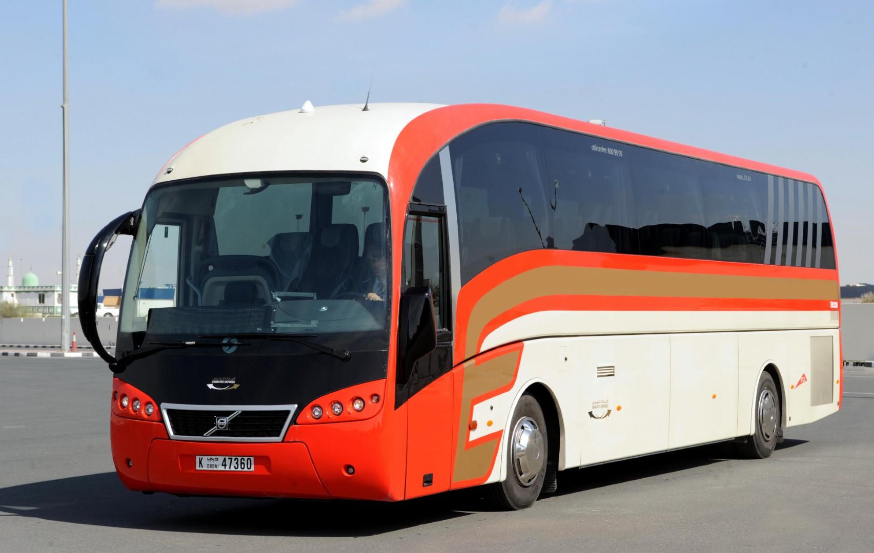 Dua jalur bus beroperasi antara Dubai dan Sharjah pada 27 Desember