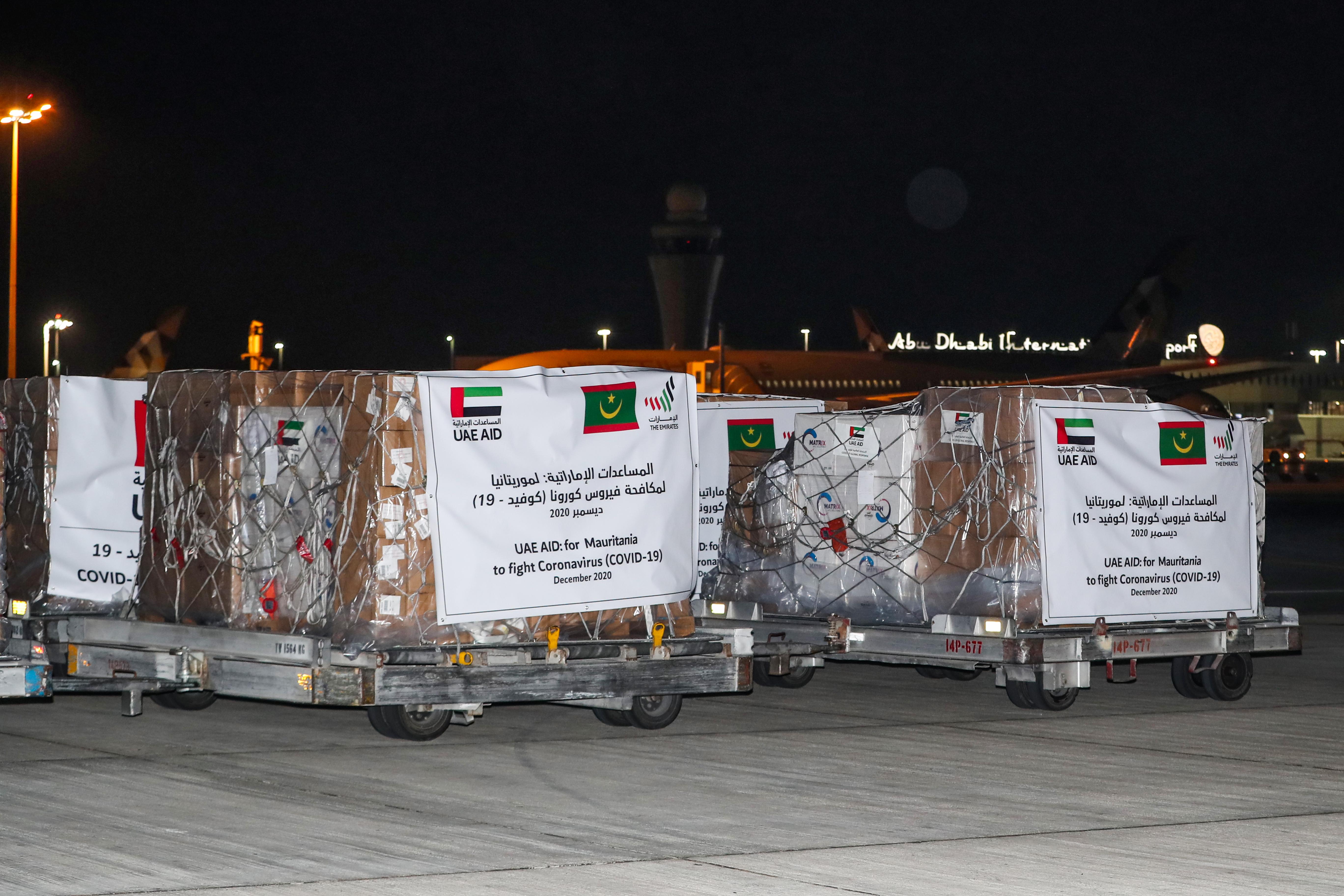"""في إطار توجيهات محمد بن زايد .. الإمارات تقدم مساعدات طبية عاجلة لموريتانيا لدعم جهودها في احتواء """"كوفيد - 19"""""""