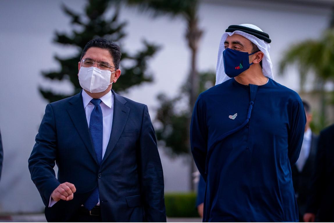 عبدالله بن زايد يلتقي وزير خارجية المغرب