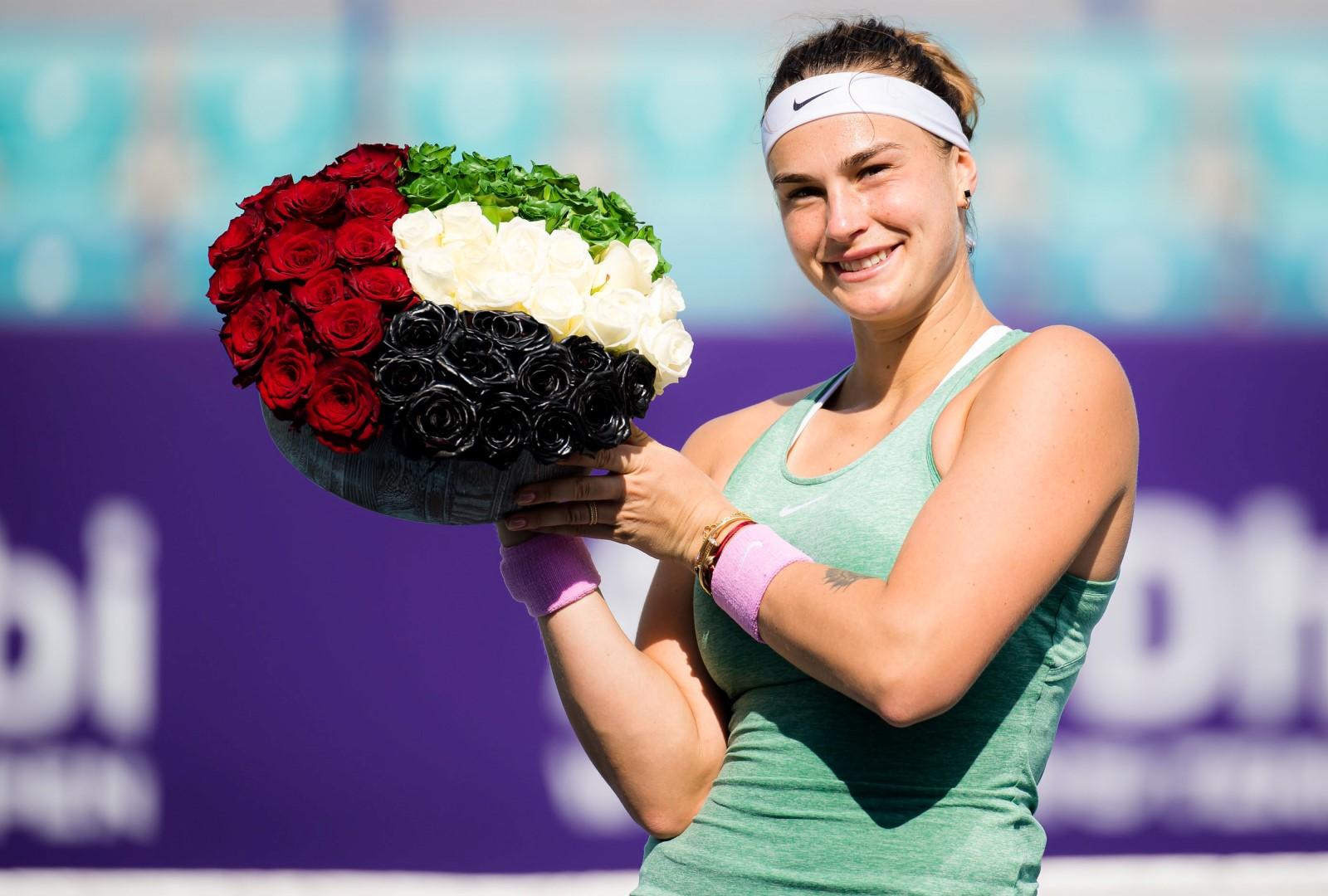 البيلاروسية سابالينكا تفوز بلقب بطولة أبوظبي المفتوحة لتنس السيدات المحترفات
