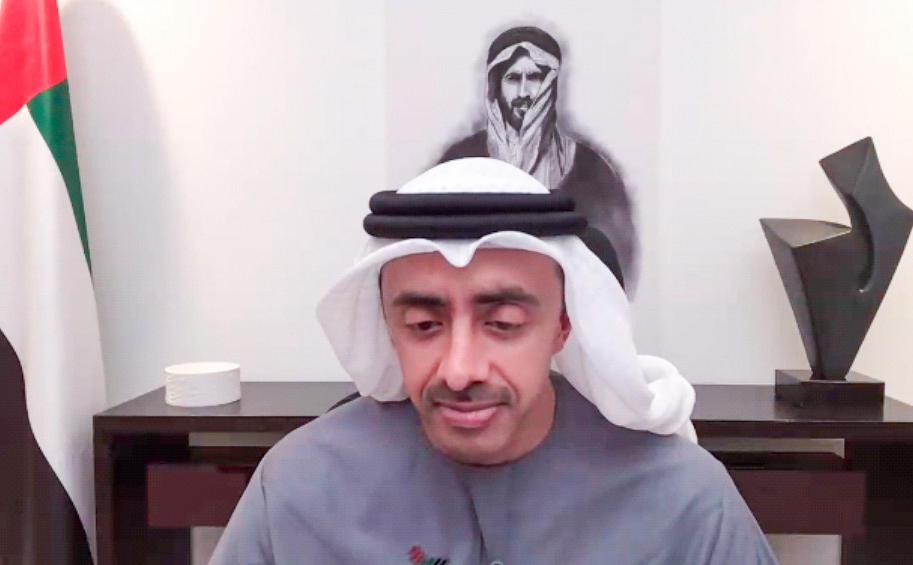 عبدالله بن زايد: نجدد دعمنا للمملكة المغربية الشقيقة في سيادتها الكاملة على الصحراء المغربية