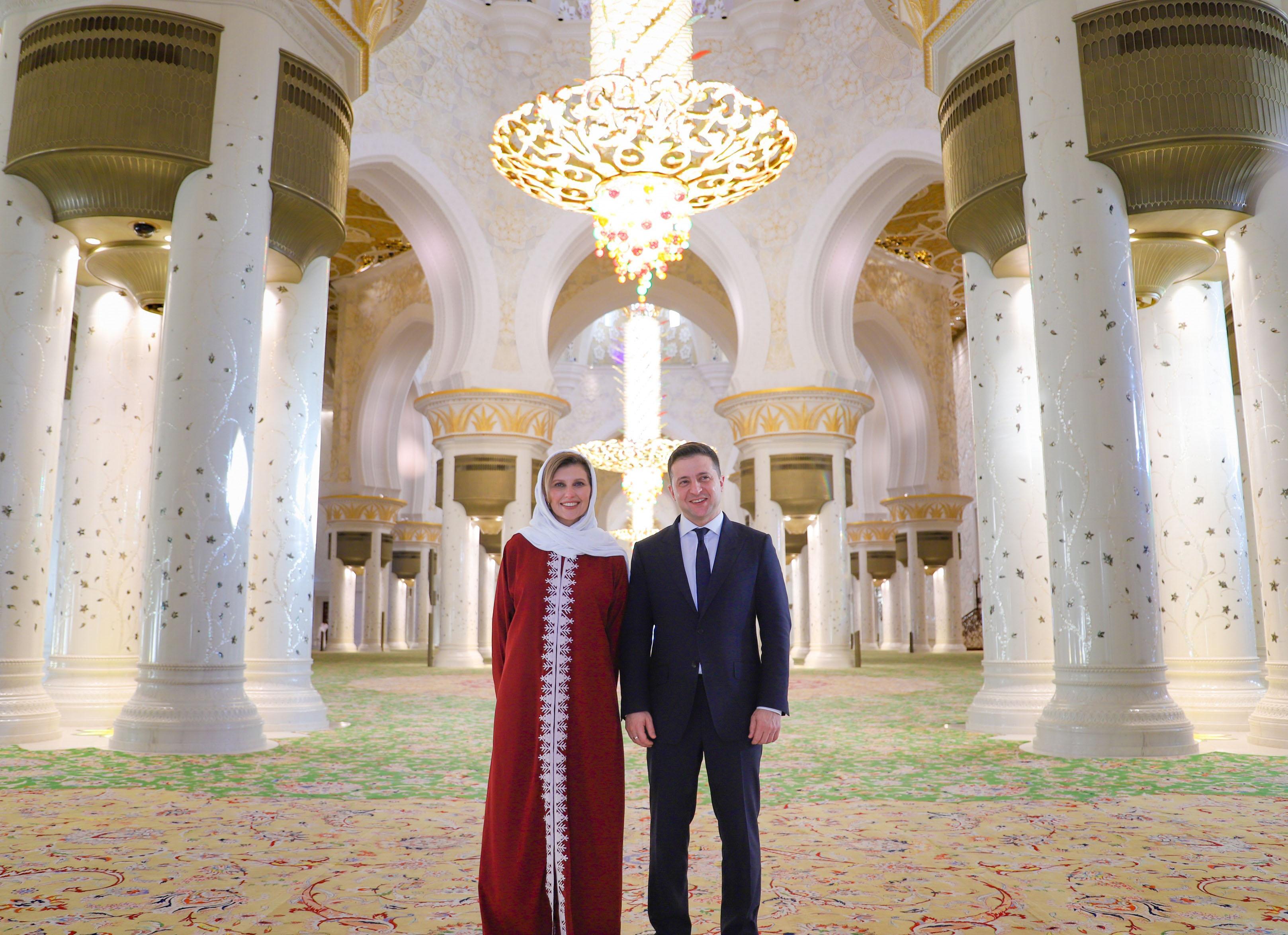 رئيس أوكرانيا يزور جامع الشيخ زايد الكبير في أبوظبي