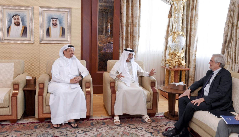 نهيان بن مبارك يبحث مع المفوض العام الإيطالي استعدادات المشاركة في إكسبو 2020