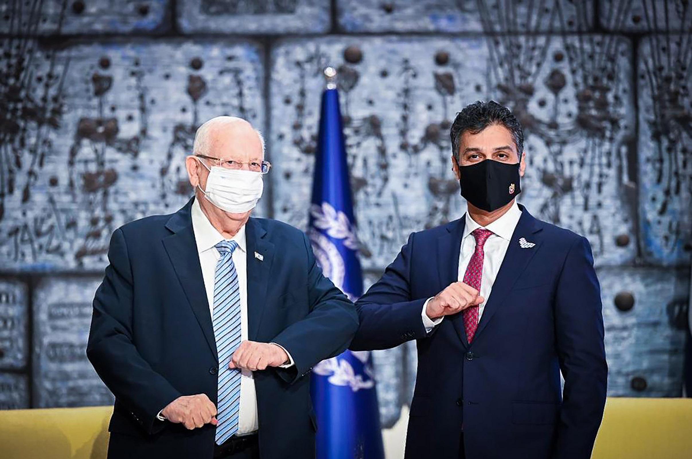 سفير الإمارات يقدم أوراق اعتماده إلى رئيس إسرائيل