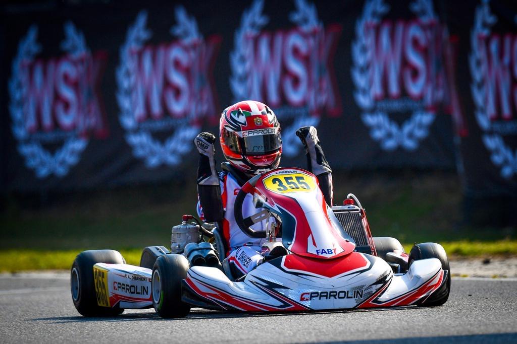 راشد الظاهري بطلا لسباقات بطولة العالم للكارتينج بإيطاليا بعد أداء استثنائي في الجولة الأخيرة