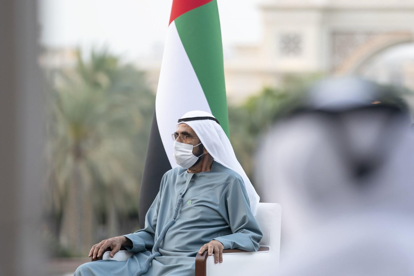 محمد بن راشد يستقبل رئيس الوزراء العراقي