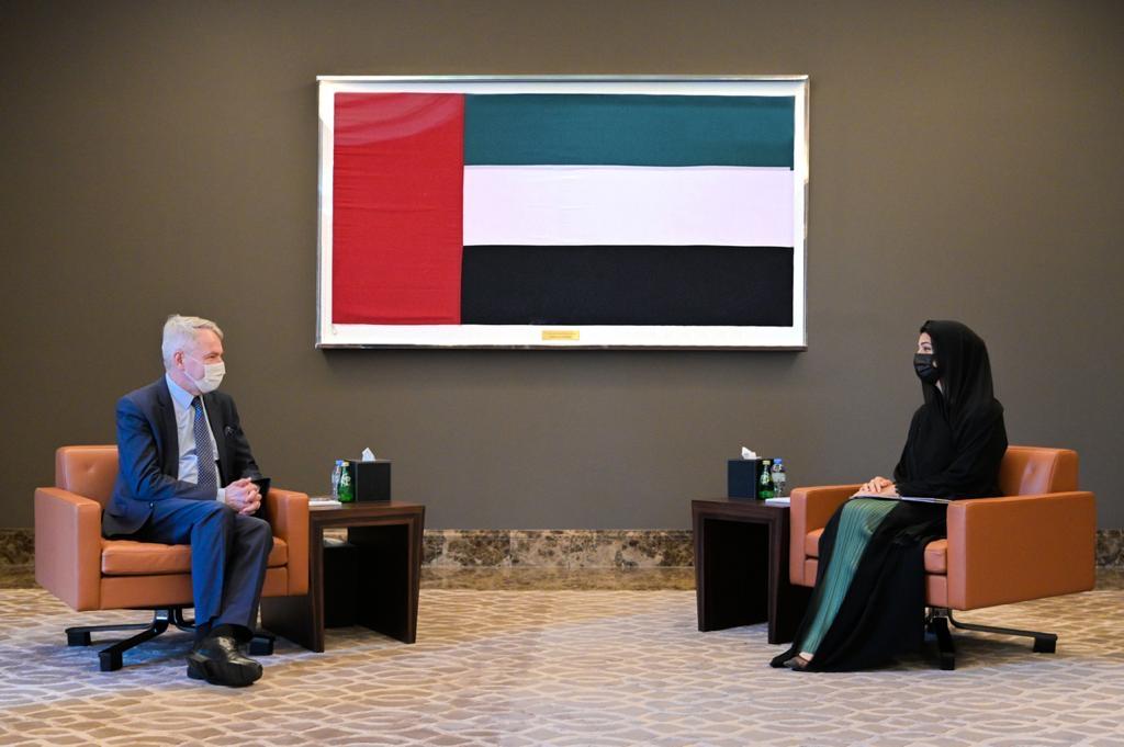 شخبوط بن نهيان و ريم الهاشمي يبحثان مع وزير خارجية فنلندا العلاقات الثنائية و ملفات دولية