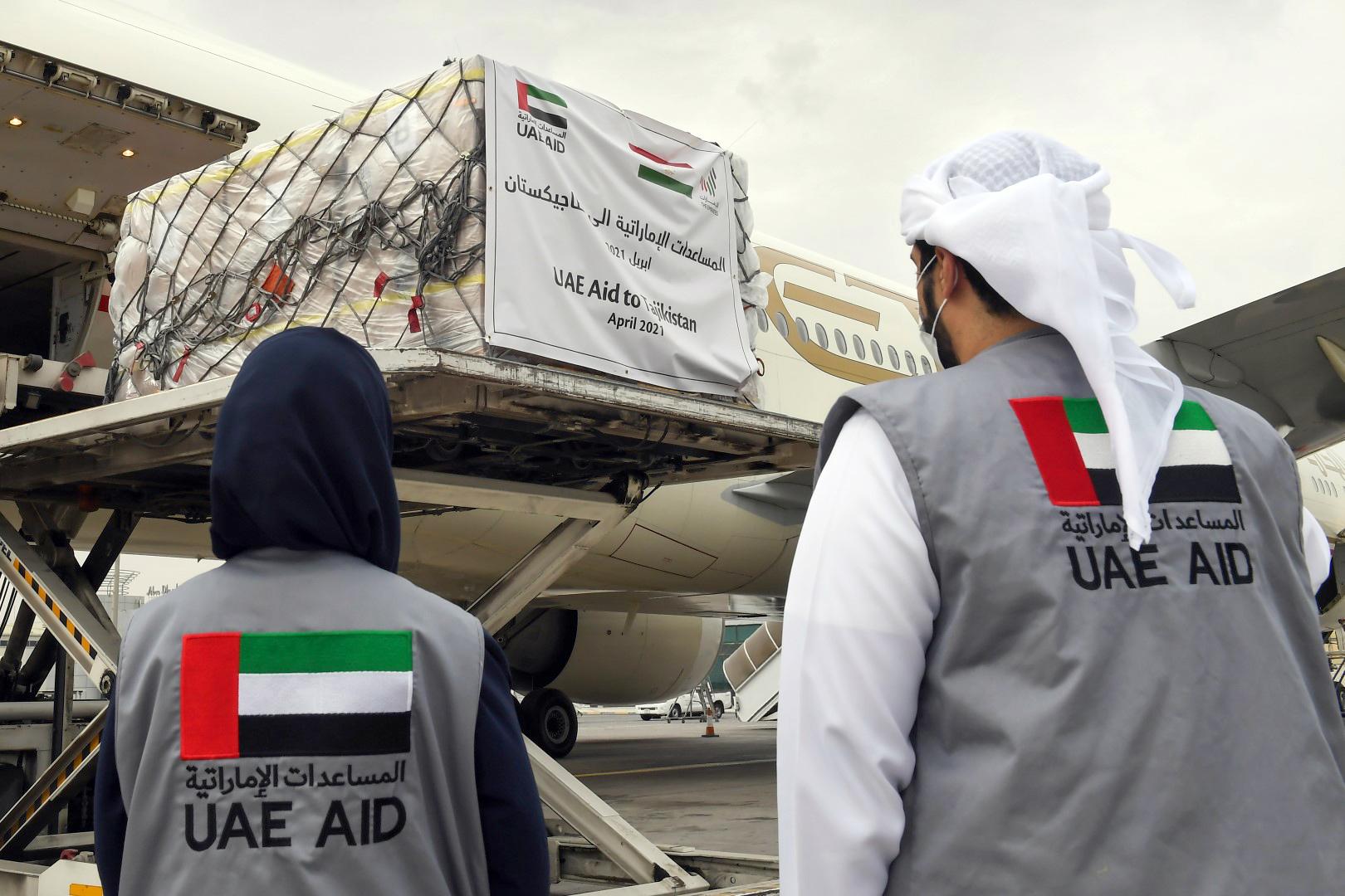 الإمارات ترسل مساعدات غذائية إلى طاجيكستان