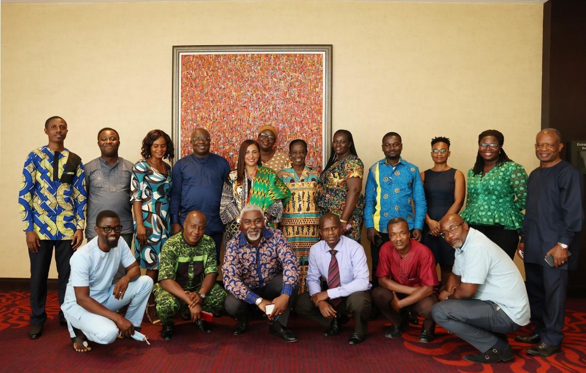 بدور القاسمي تبحث مع ناشري غانا خطط تعافي قطاع النشر