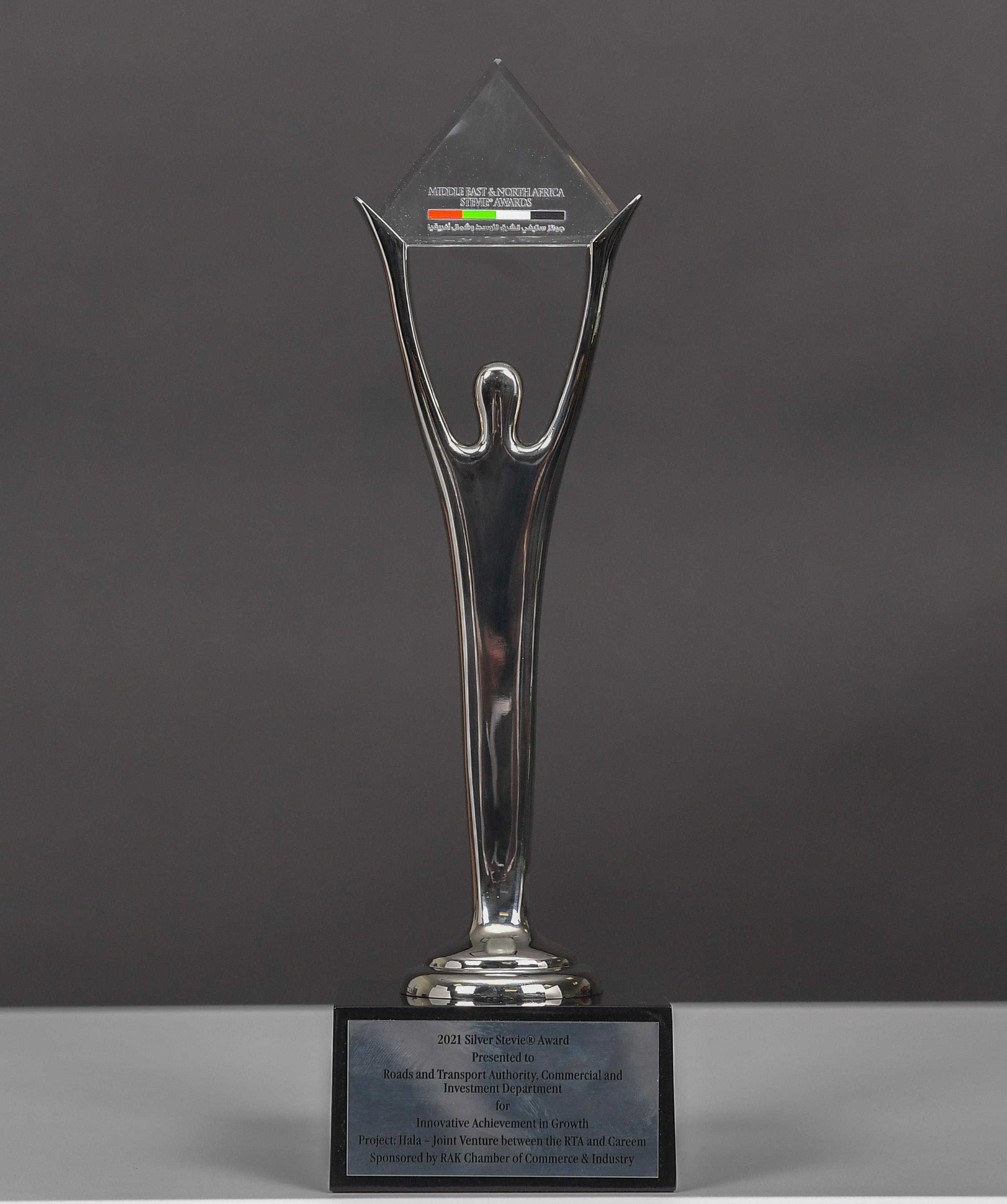 , Dubai's Roads and Transport Authority wins Stevie International Award for innovative PPP Venture