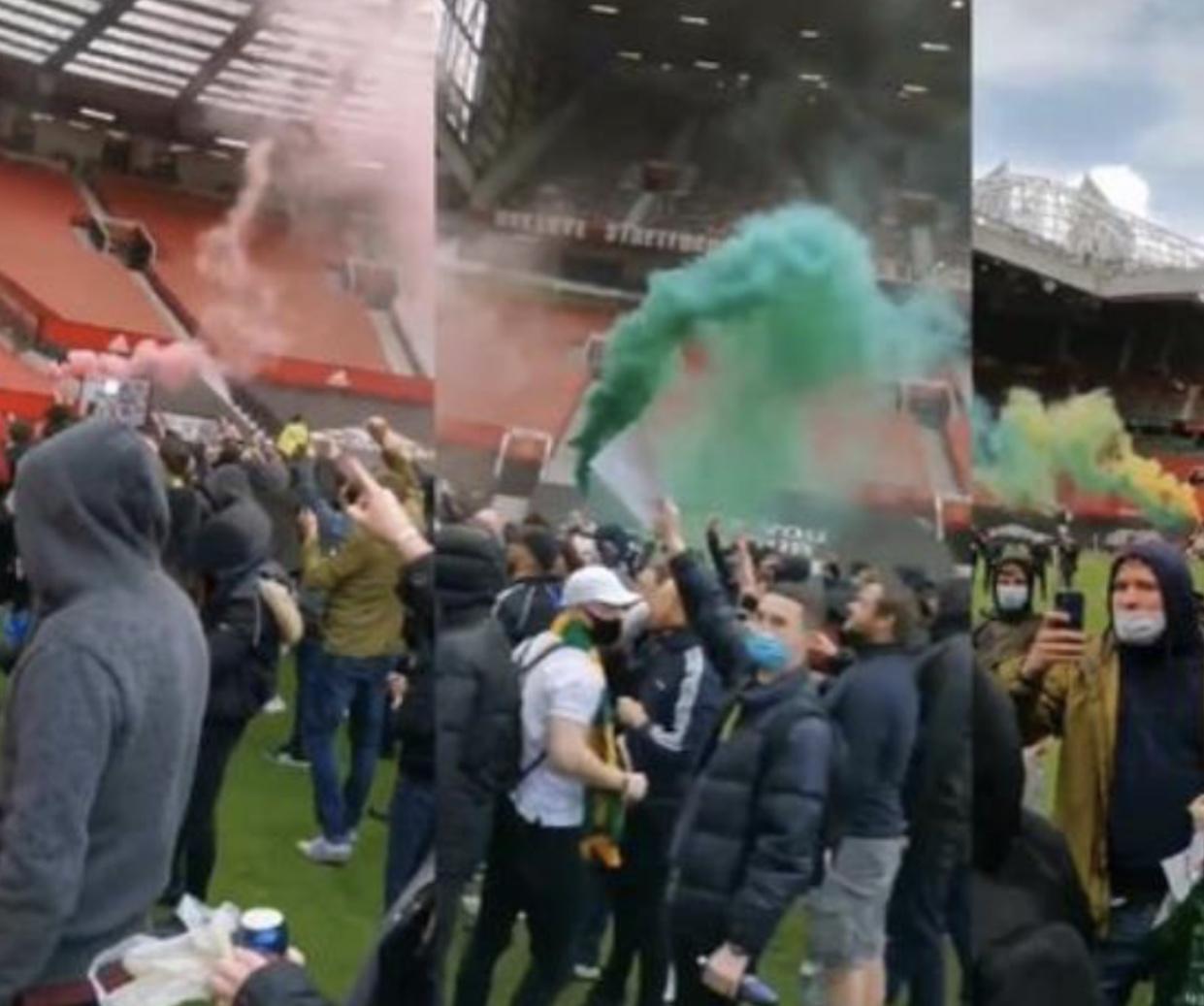 تأجيل موعد مباراة مانشيستر يونايتد مع ليفربول بعد اقتحام الجماهير ملعب اللقاء