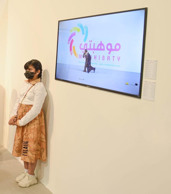 """500 طالب وطالبة يعرضون إبداعاتهم الفنية في معرض """"موهبتي"""" بمنارة السعديات"""