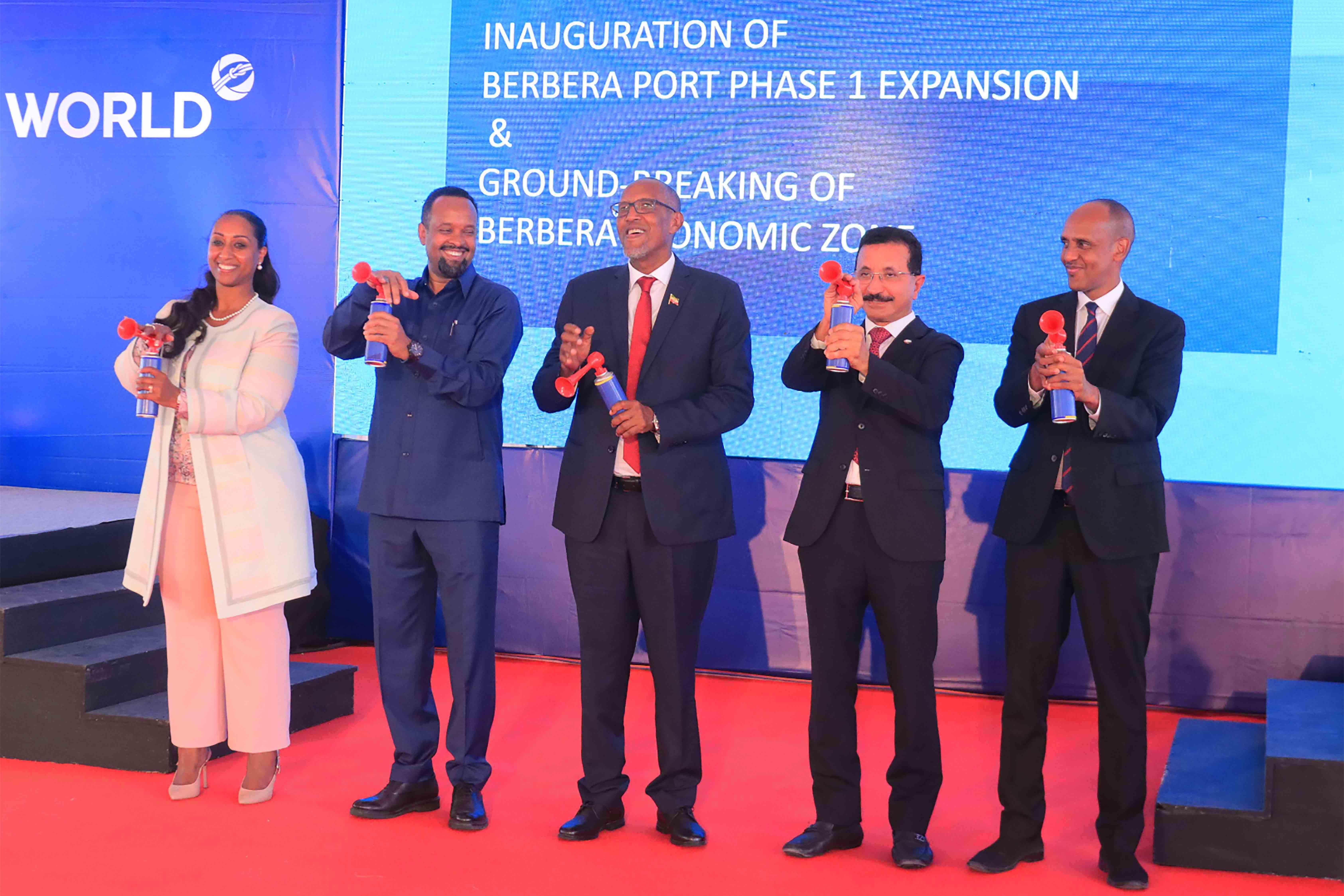 موانئ دبي العالمية وحكومة أرض الصومال تفتتحان محطة حاويات جديدة في ميناء بربرة