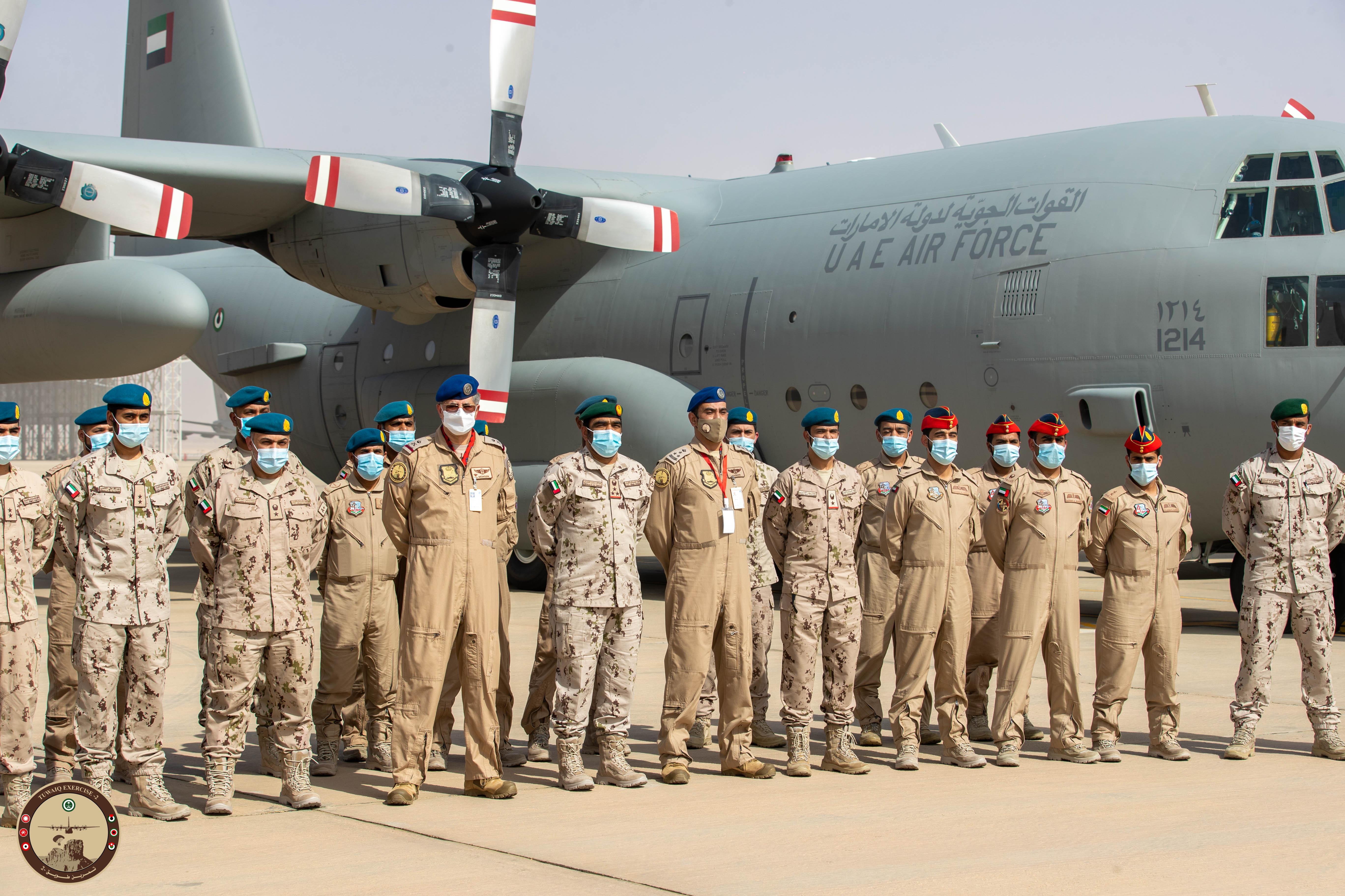 """القوات الجوية والدفاع الجوي تشارك في مناورات التمرين الجوي المشترك والمختلط """" طويق 2 """" بالسعودية"""