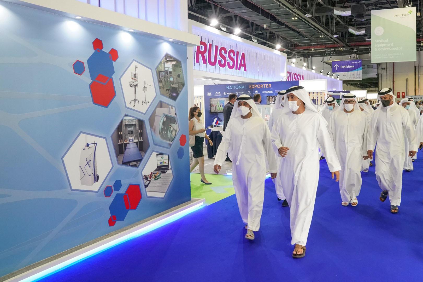 أحمد بن سعيد يفتتح معرضي الصحة العربي وميدلاب الشرق الأوسط بمشاركة 60 دولة