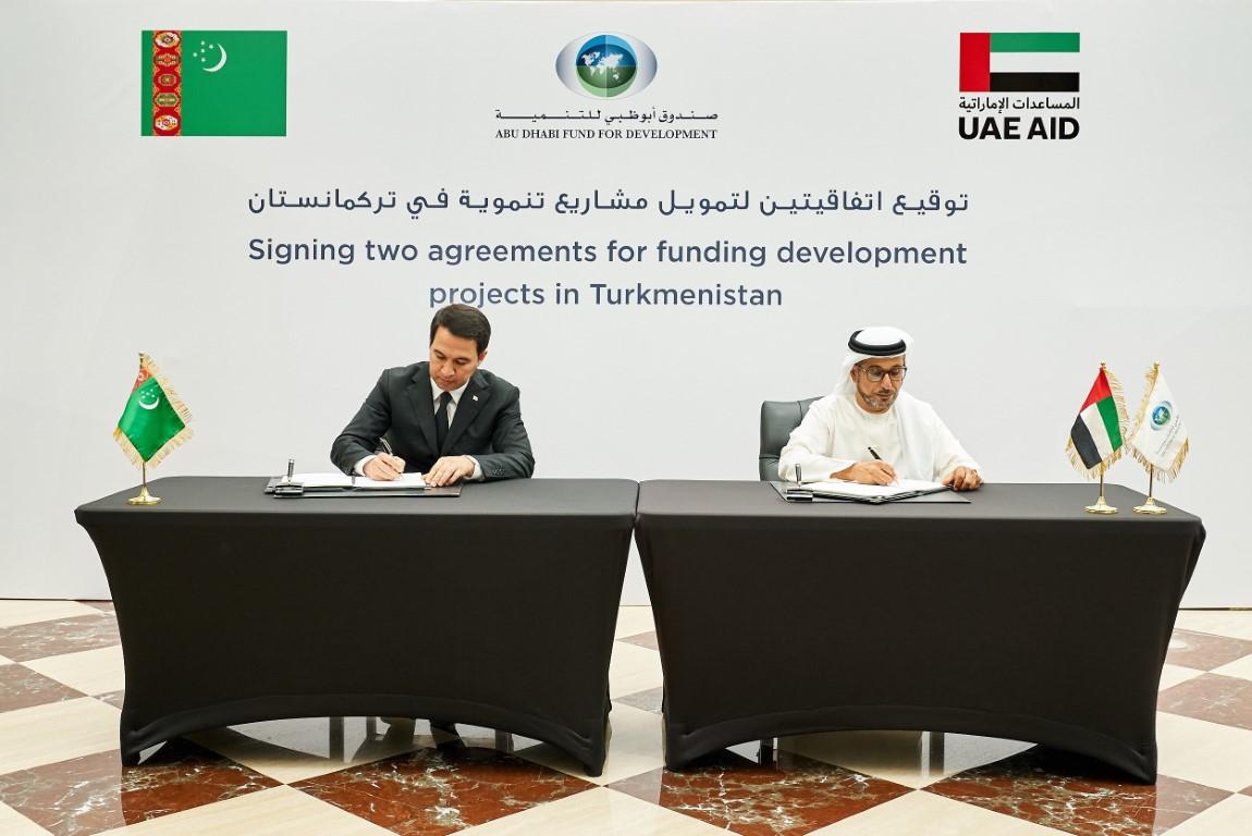 """بقيمة 367 مليون درهم.. """"أبوظبي للتنمية"""" يمول إنشاء مطار ومحطة للطاقة الهجينة في تركمانستان"""