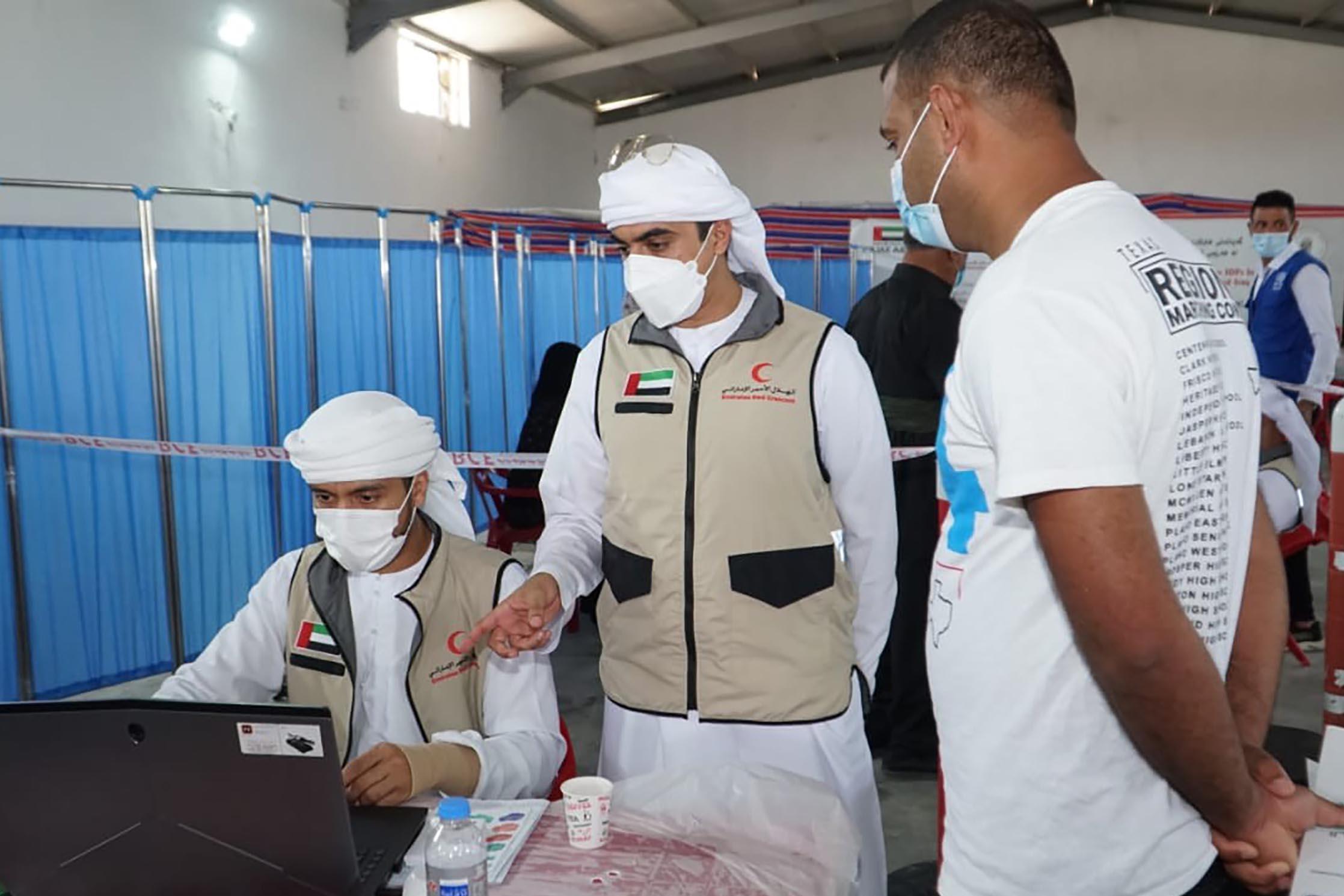 """""""الهلال الأحمر"""" يدشن المرحلة الثانية من برنامج تطعيم النازحين واللاجئين في كردستان العراق"""