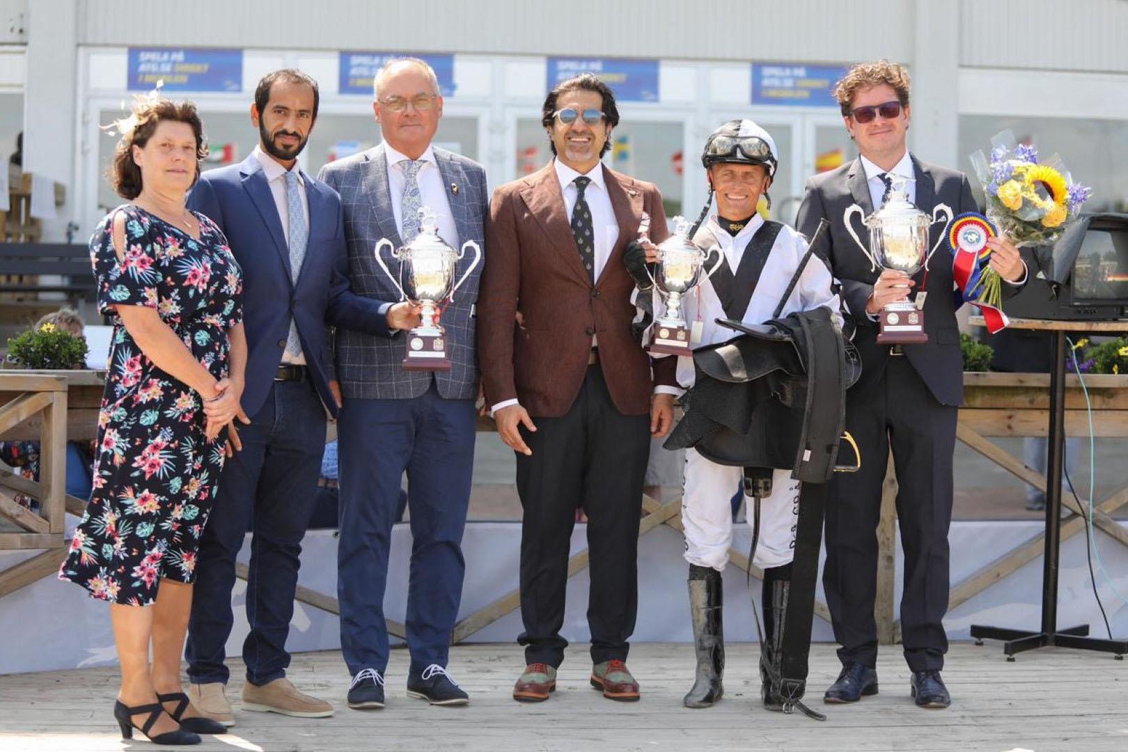 """الجواد """"رسمي الخالدية"""" بطلاً لكأس رئيس الدولة للخيول العربية في السويد"""