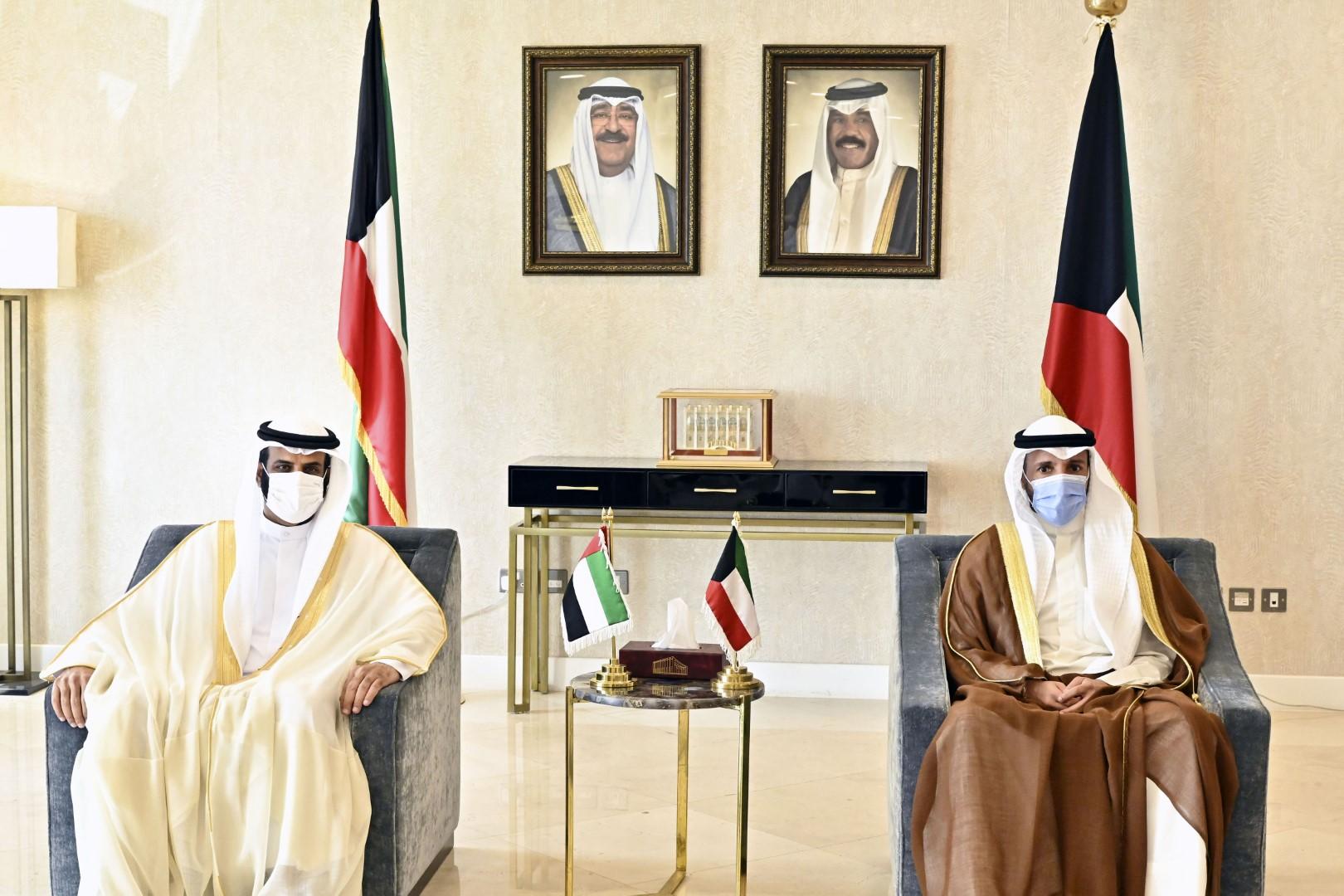 رئيس مجلس الأمة الكويتي يستقبل وفد المجلس الوطني الاتحادي