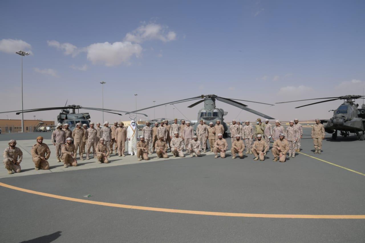 كبار قادة القوات المسلحة يهنئون قوات الواجب المتواجدة بالسعودية بعيد الأضحى