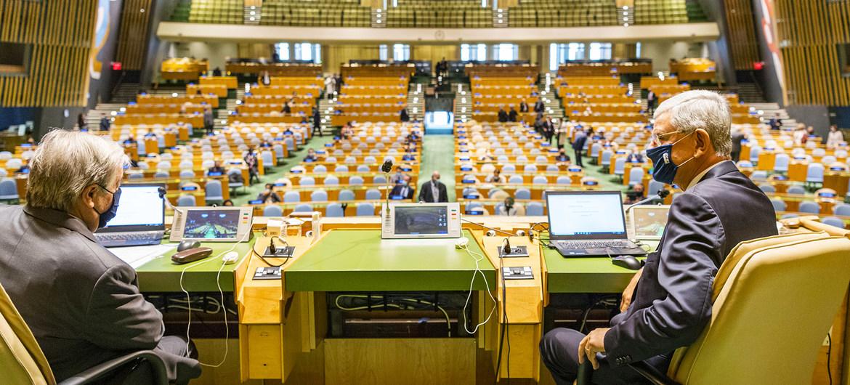 افتتاح الدورة الاعتيادية الـ 76 للجمعية العامة للأمم المتحدة