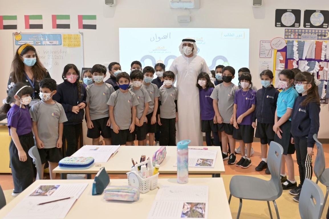 حمدان بن محمد يزور مدارس دبي فرع البرشاء ويوجه بالتوسع في المشروع الواعد