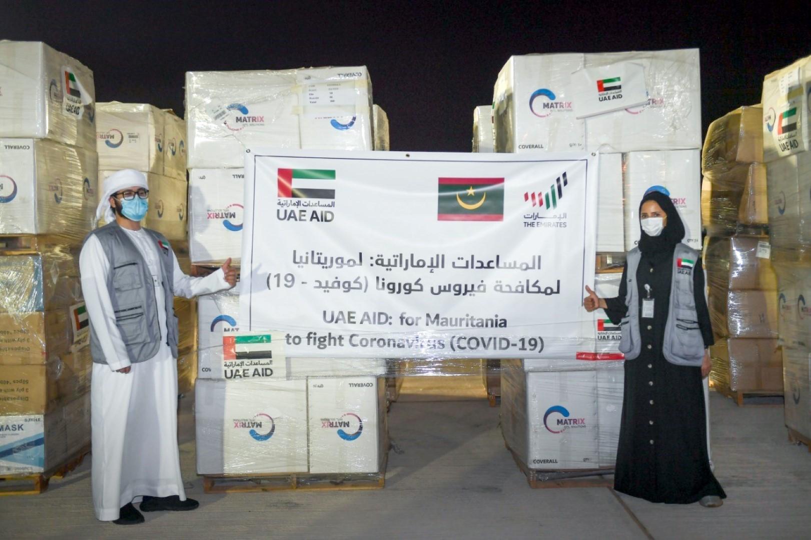 """الإمارات تدعم موريتانيا بـــ 100 ألف جرعة من لقاحات """"كورونا"""" و مستلزمات طبية"""