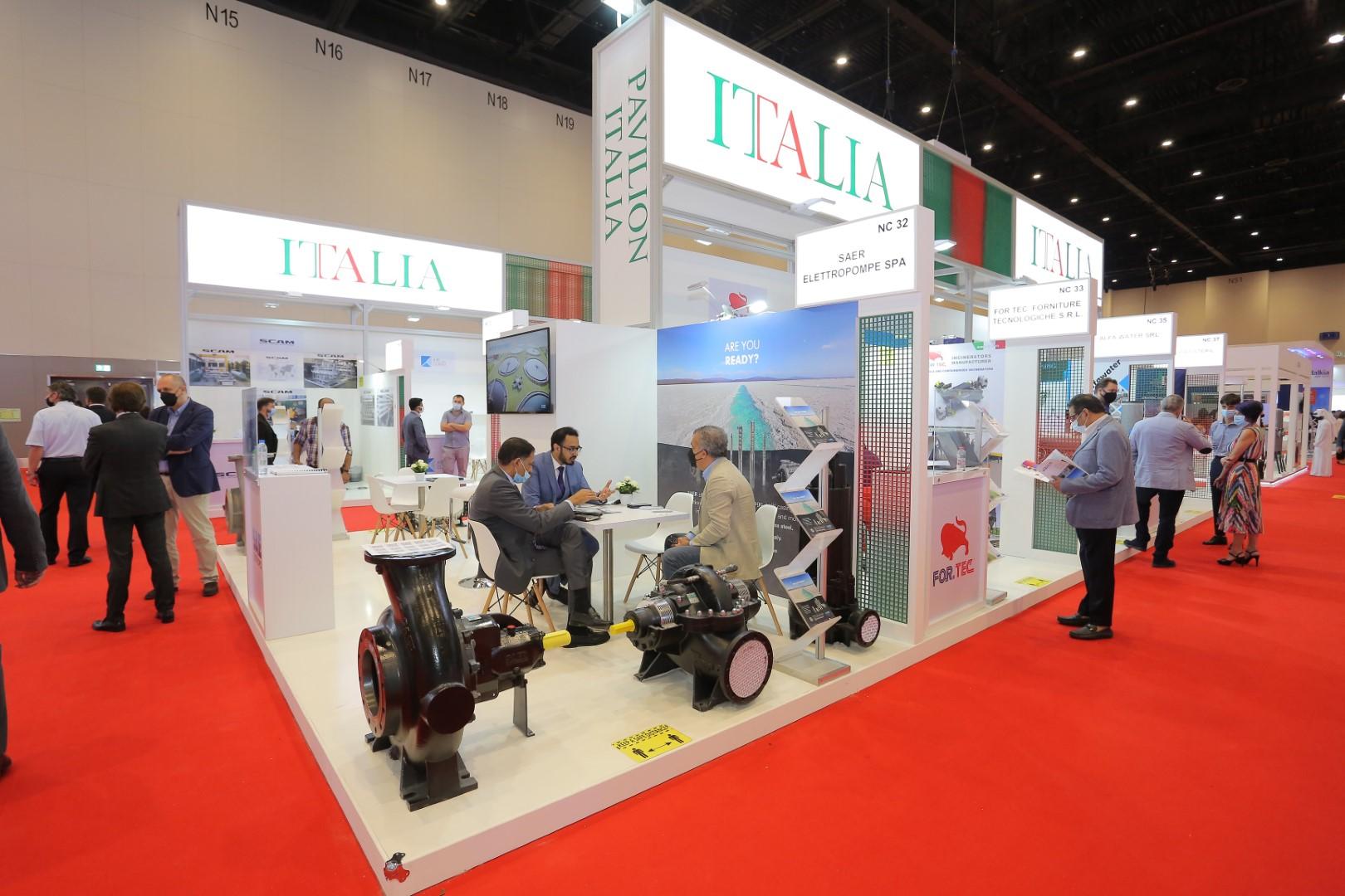 """إيطاليا تستعرض أحدث الحلول المبتكرة للتصدي لتحديات المناخ في """"ويتيكس 2021"""""""