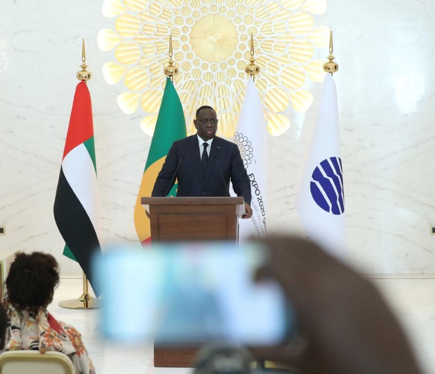 رئيس السنغال :إكسبو 2020 دبي تجمع عالمي يسهم في نشر السلام والتعايش بين الثقافات والحضارات
